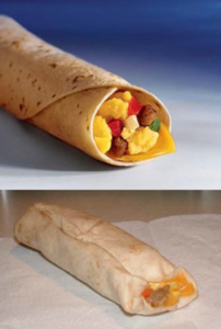 burrito mac donald's realidade versus propaganda