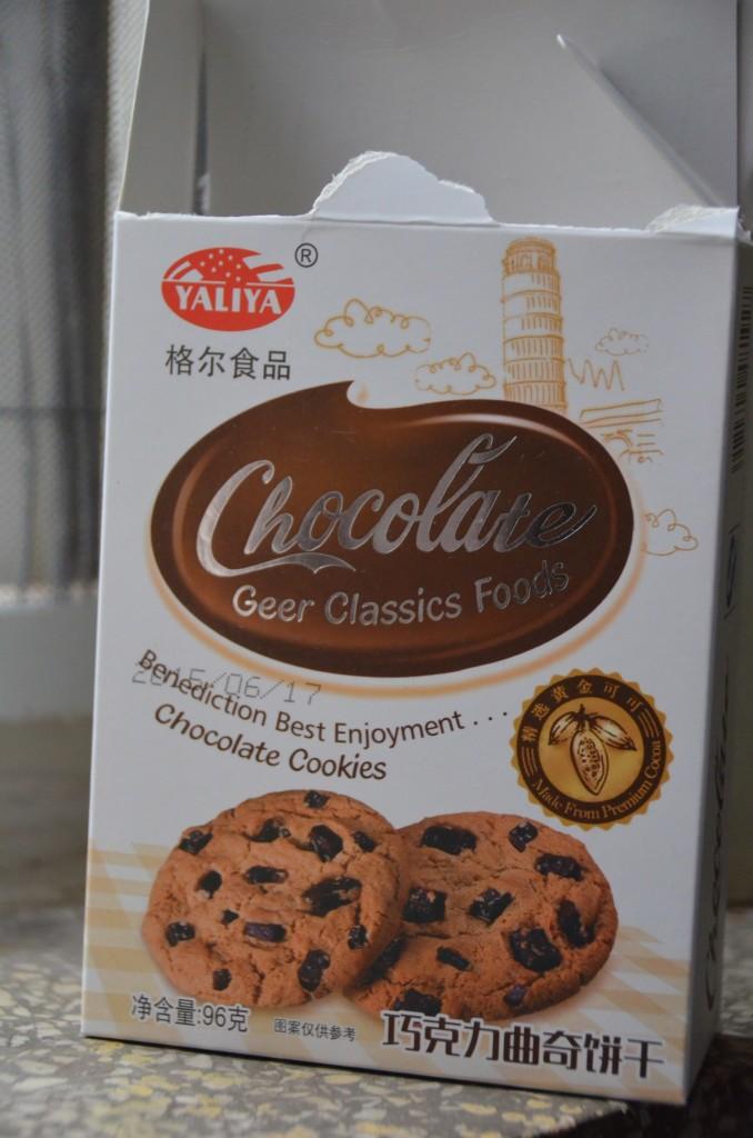 biscoito china gota chocolate